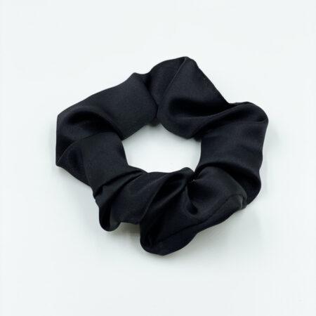 Γυναικείο Λαστιχάκι Μαλλιών Μαύρο, Σατέν